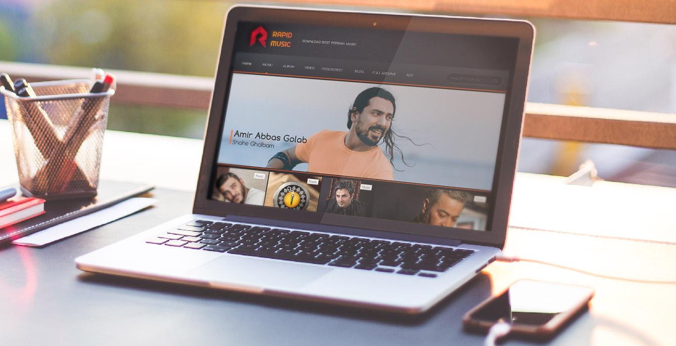 طراحی سایت رپید موزیک