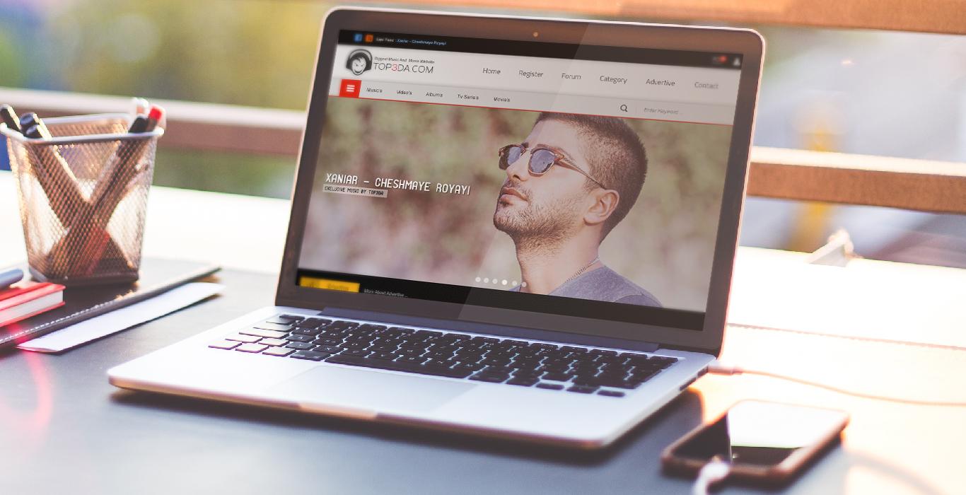 طراحی سایت تاپ صدا