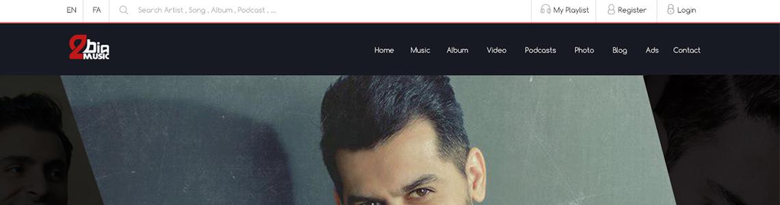 طراحی سایت بیا تو موزیک